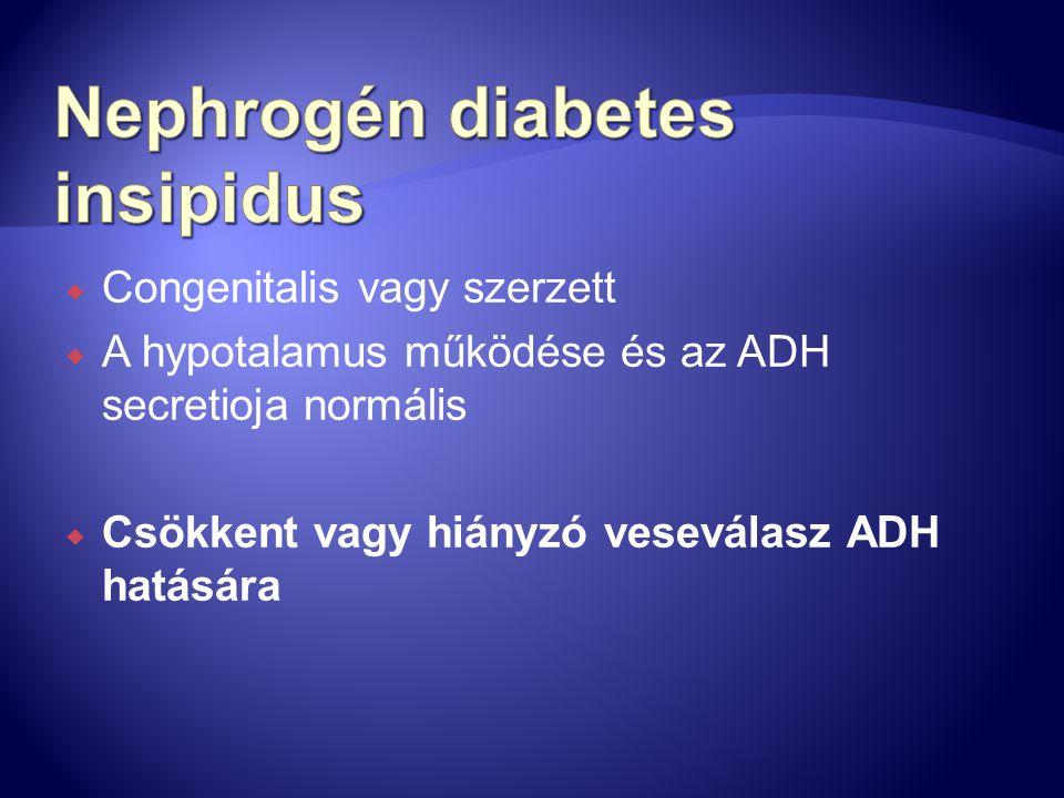 Nephrogén diabetes insipidus
