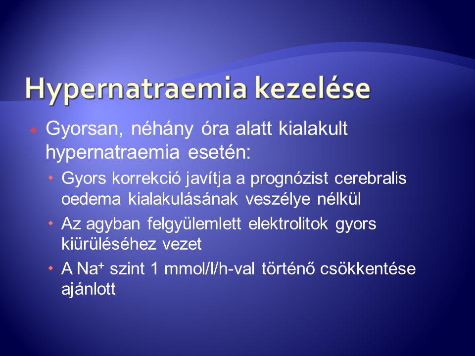 Hypernatraemia kezelése