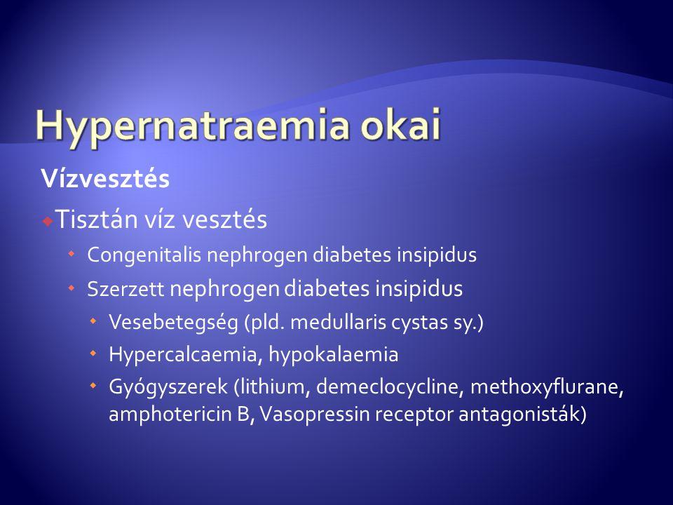 Hypernatraemia okai Vízvesztés Tisztán víz vesztés