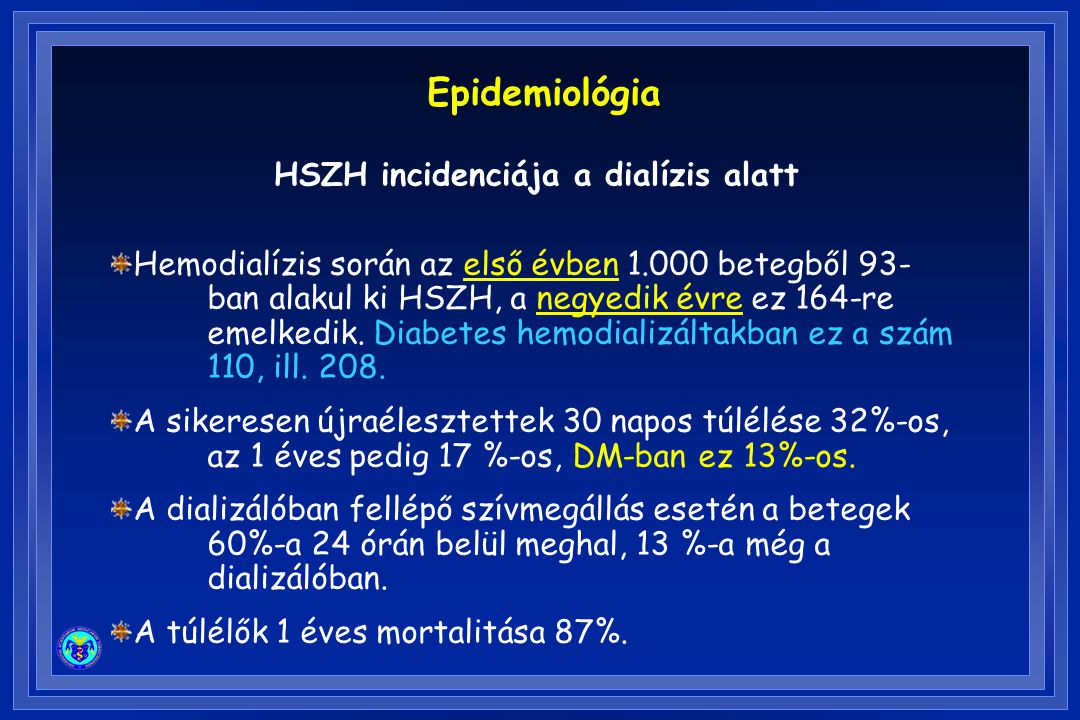 HSZH incidenciája a dialízis alatt
