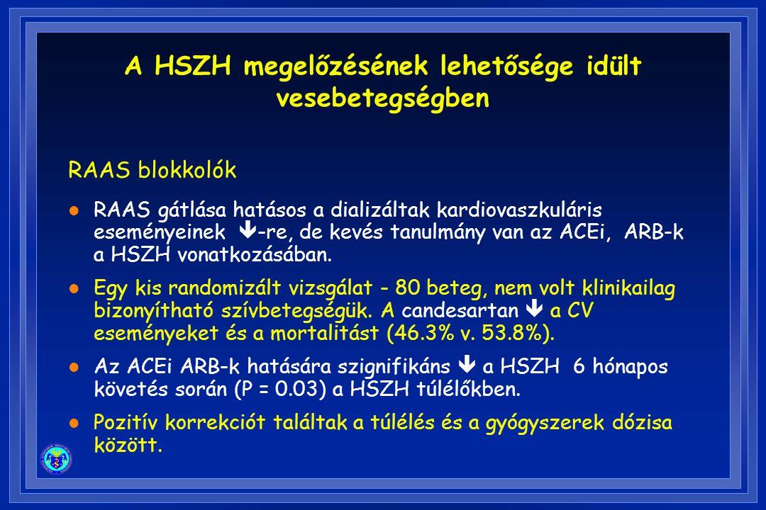 A HSZH megelőzésének lehetősége idült vesebetegségben