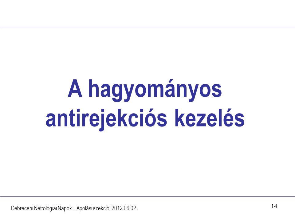 A hagyományos antirejekciós kezelés