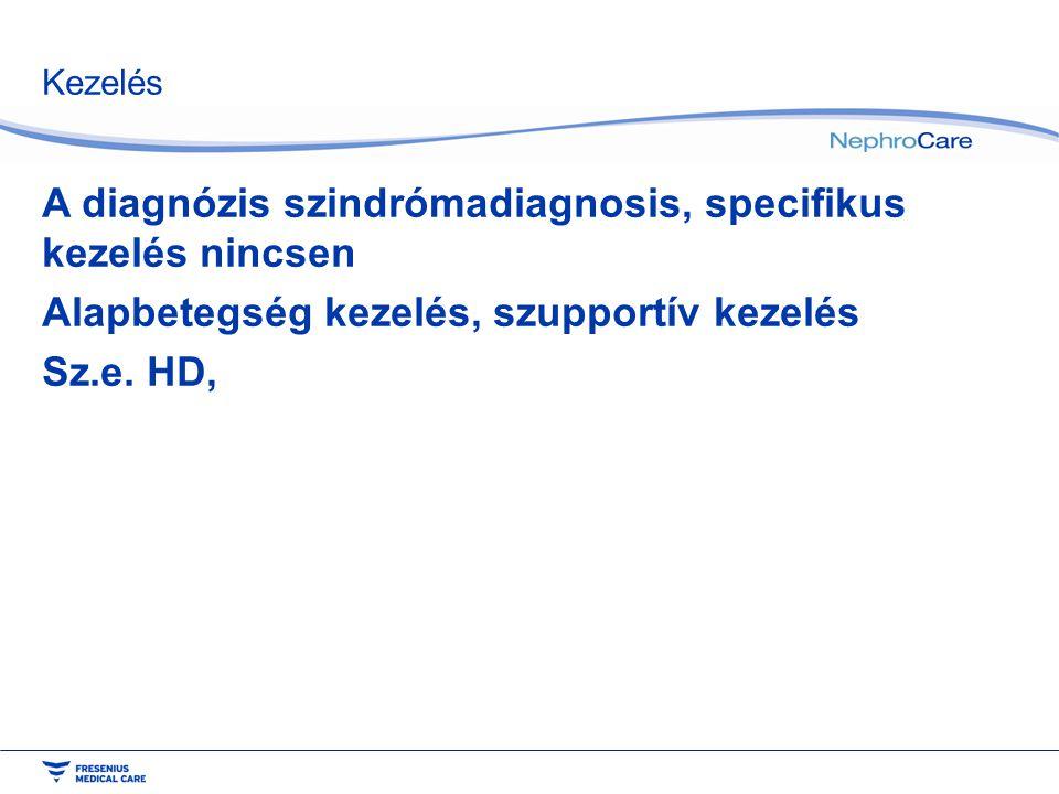 A diagnózis szindrómadiagnosis, specifikus kezelés nincsen