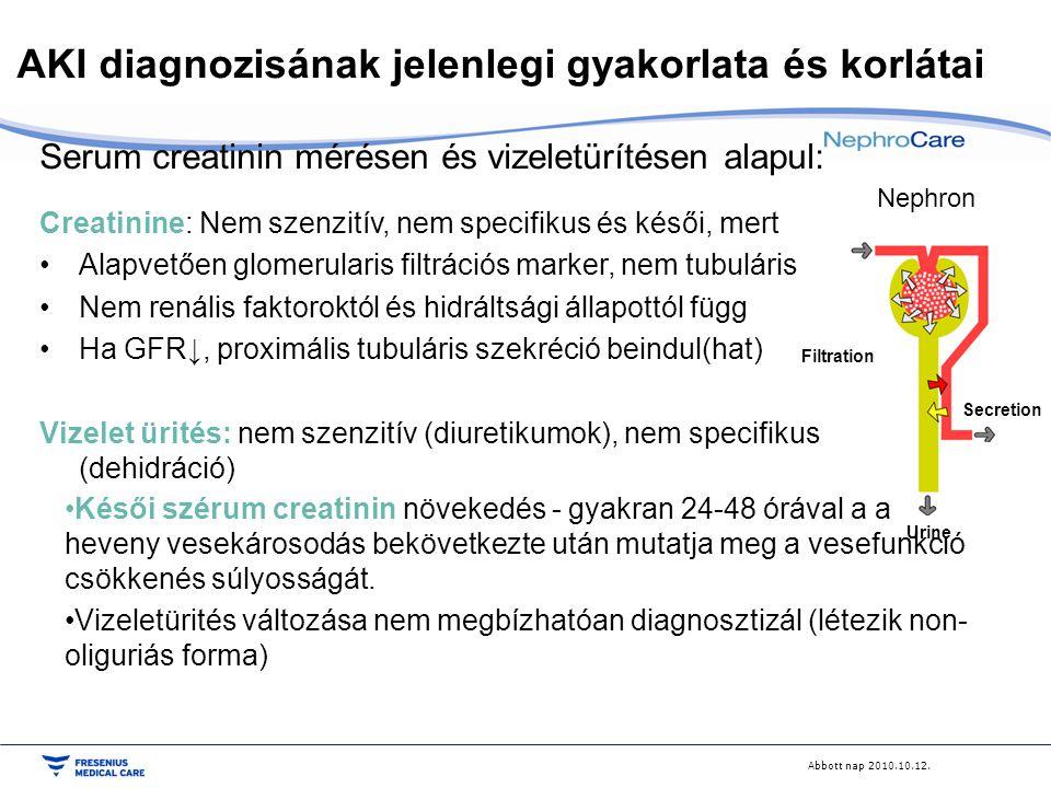 AKI diagnozisának jelenlegi gyakorlata és korlátai
