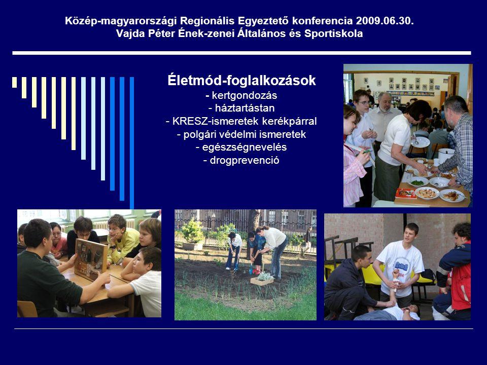Közép-magyarországi Regionális Egyeztető konferencia 2009.06.30.