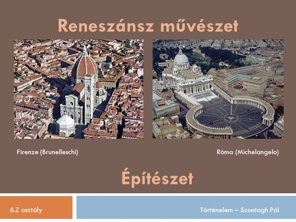 Reneszánsz művészet Építészet