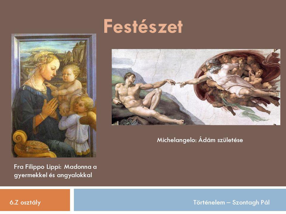 Festészet Michelangelo: Ádám születése