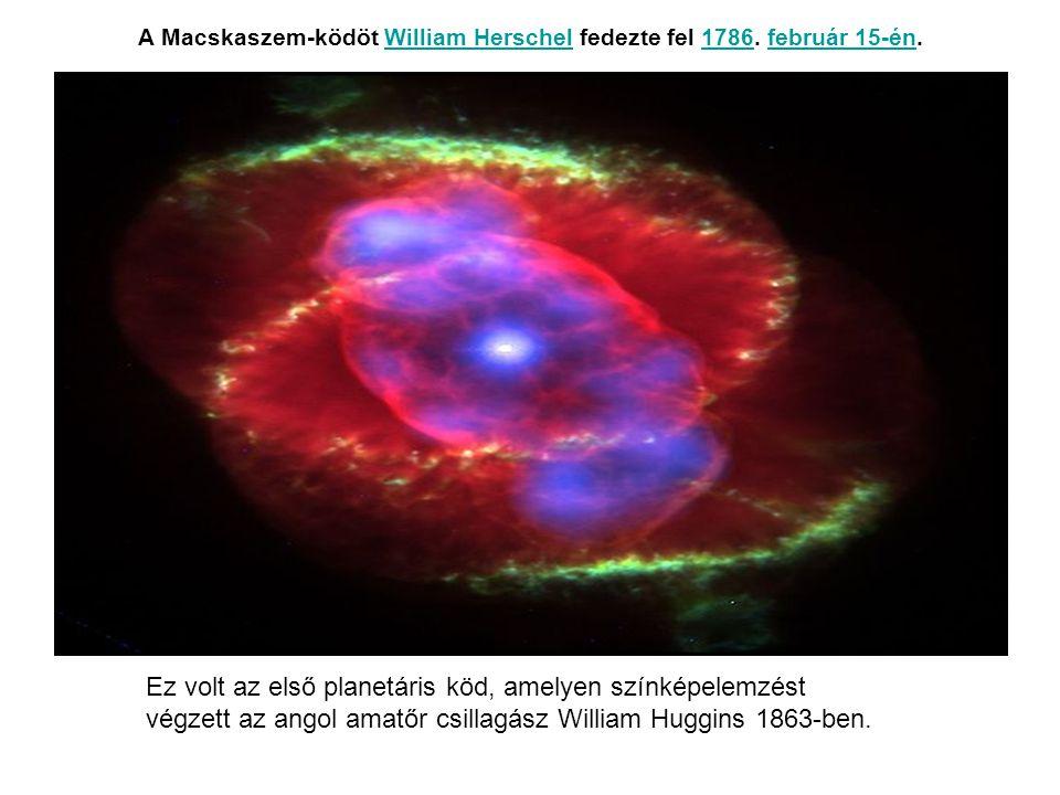 A Macskaszem-ködöt William Herschel fedezte fel 1786. február 15-én.