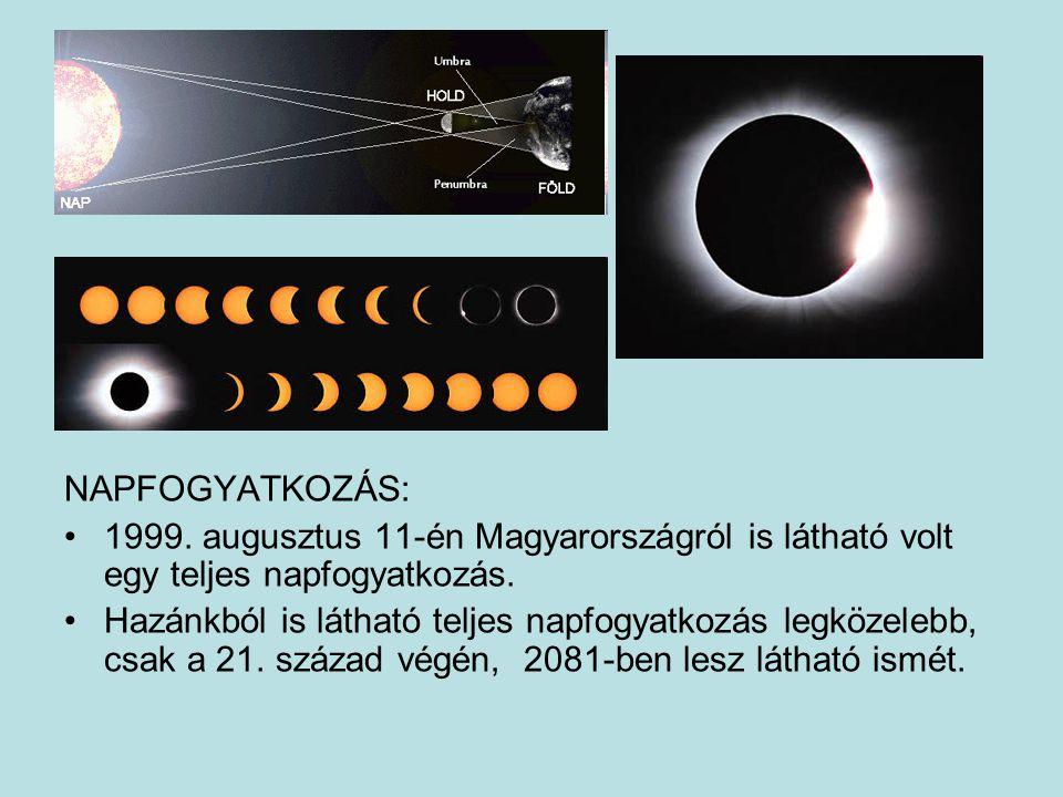 NAPFOGYATKOZÁS: 1999. augusztus 11-én Magyarországról is látható volt egy teljes napfogyatkozás.