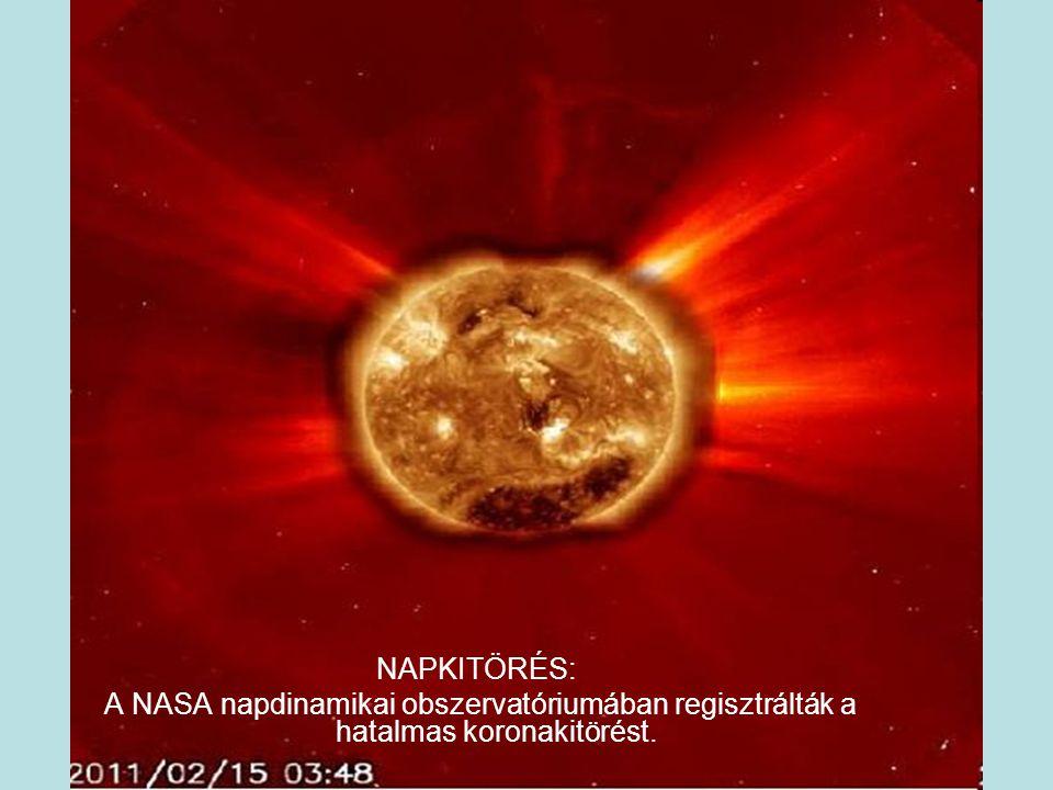 NAPKITÖRÉS: A NASA napdinamikai obszervatóriumában regisztrálták a hatalmas koronakitörést.