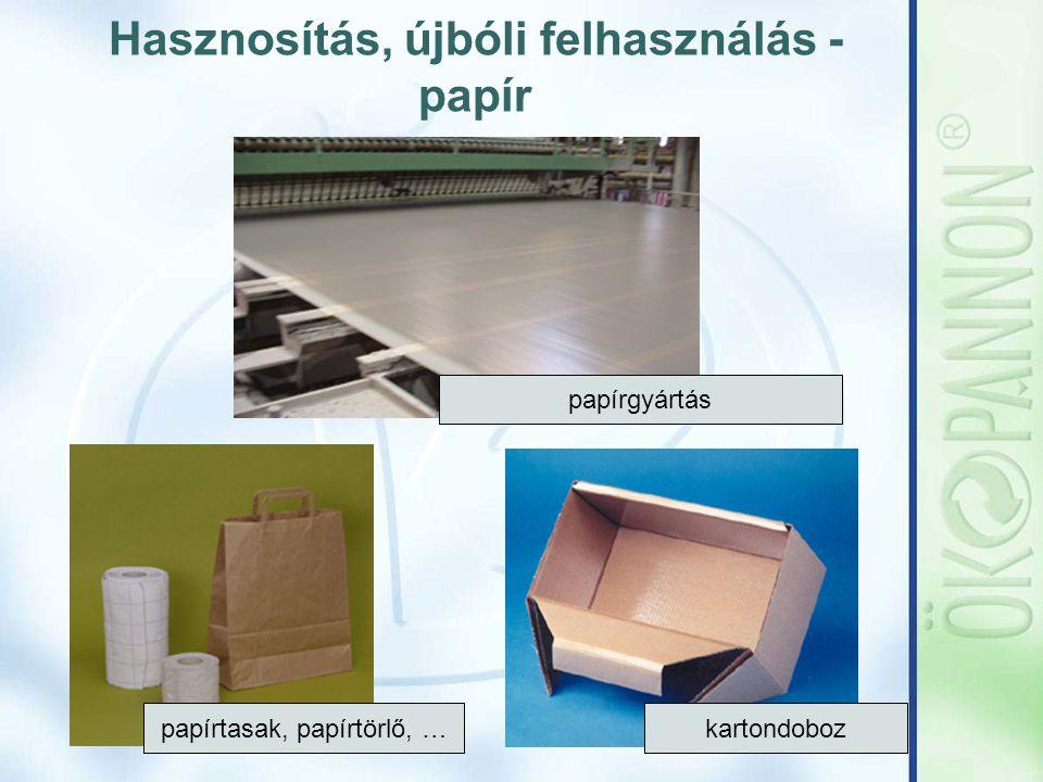 Hasznosítás, újbóli felhasználás - papír