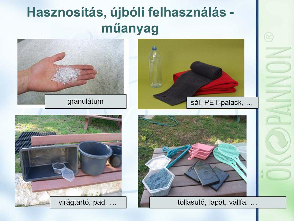 Hasznosítás, újbóli felhasználás - műanyag