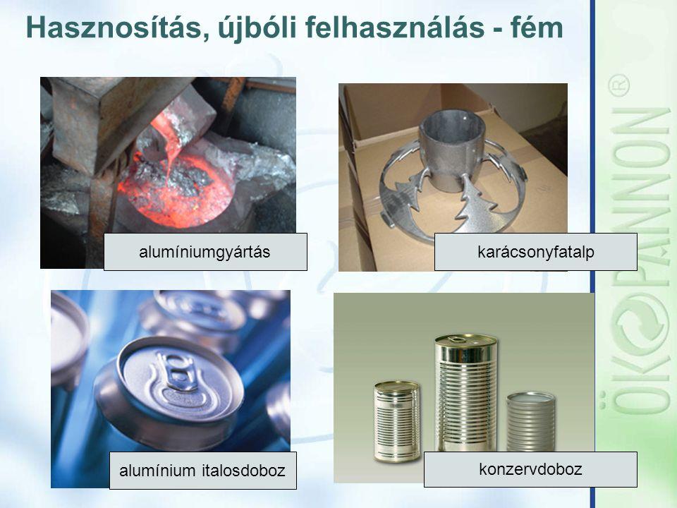 Hasznosítás, újbóli felhasználás - fém