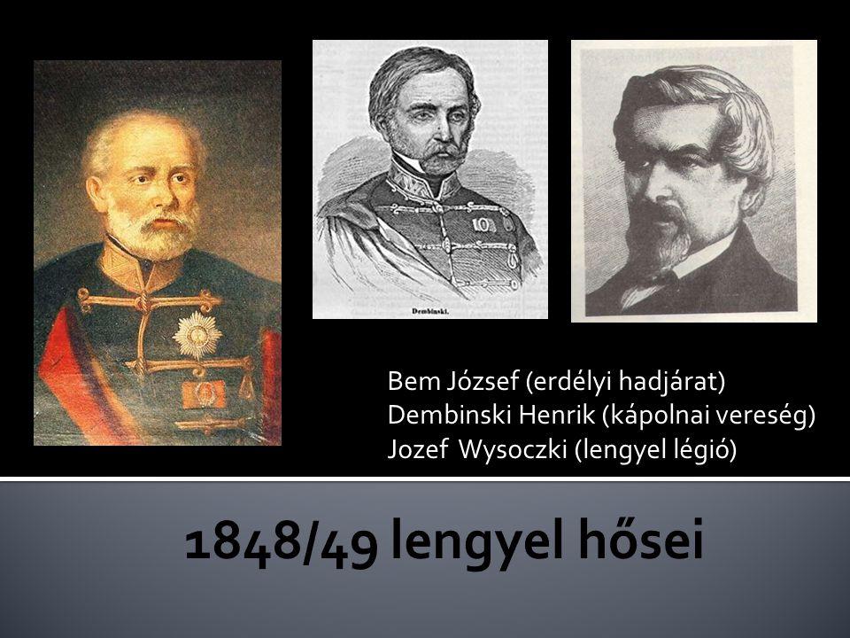 1848/49 lengyel hősei Bem József (erdélyi hadjárat)