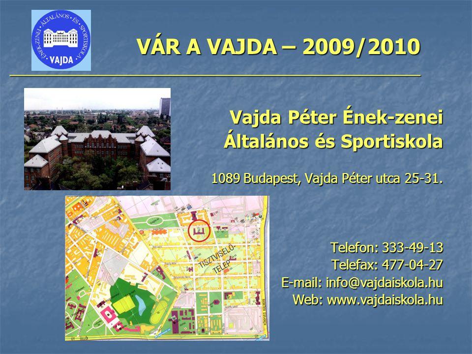 Vajda Péter Ének-zenei Általános és Sportiskola