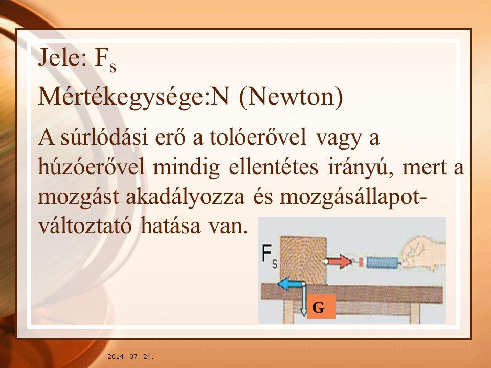 Mértékegysége:N (Newton)