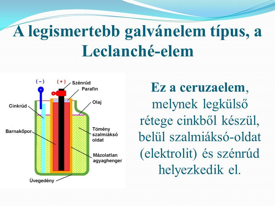 A legismertebb galvánelem típus, a Leclanché-elem