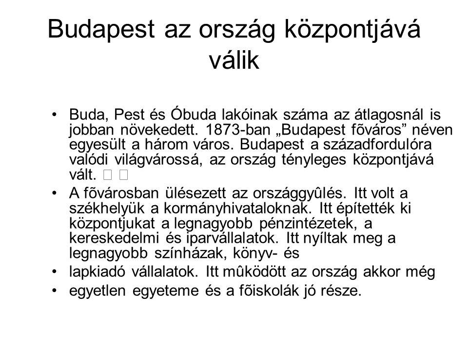 Budapest az ország központjává válik
