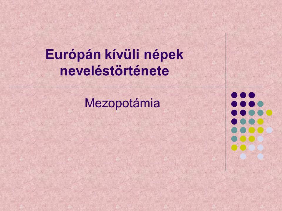 Európán kívüli népek neveléstörténete