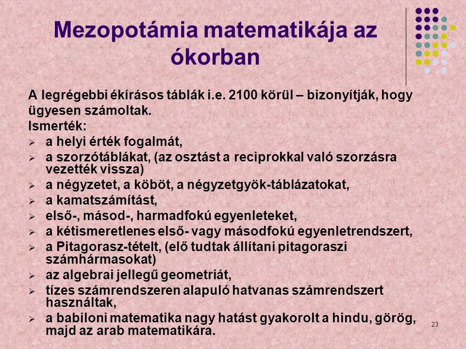 Mezopotámia matematikája az ókorban