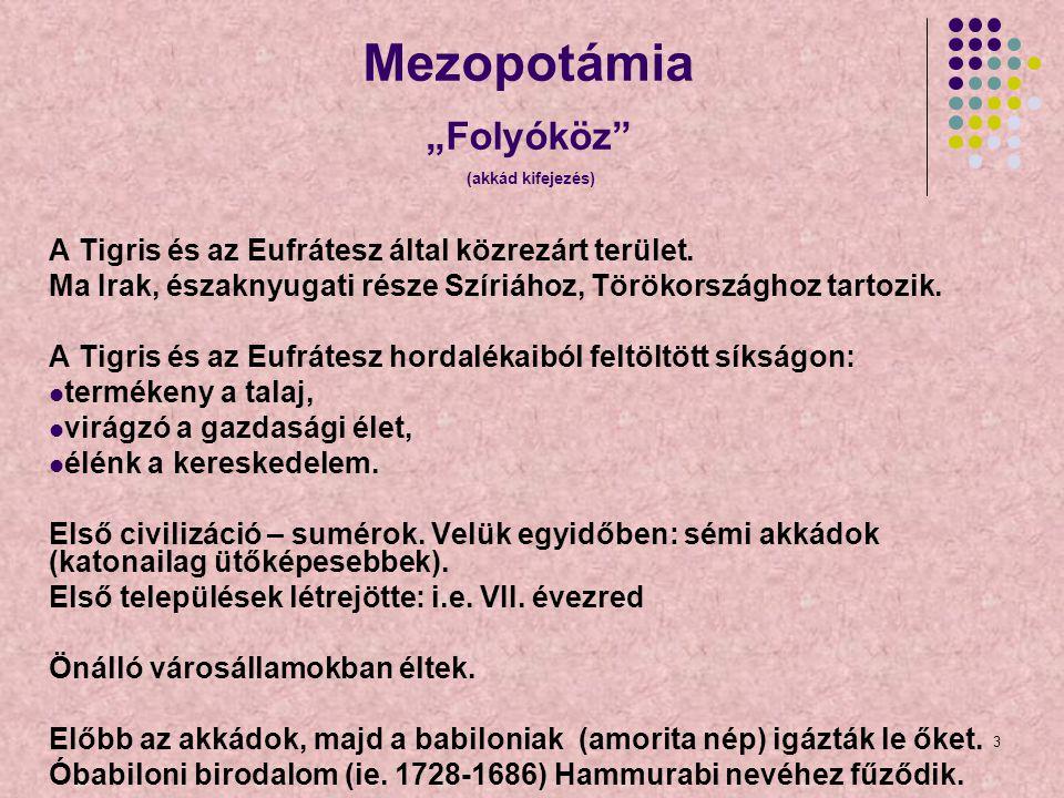 """Mezopotámia """"Folyóköz (akkád kifejezés)"""