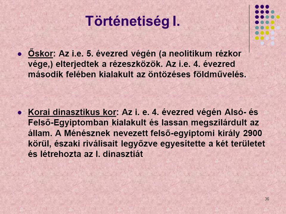 Történetiség I.