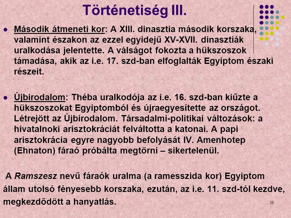 Történetiség III.
