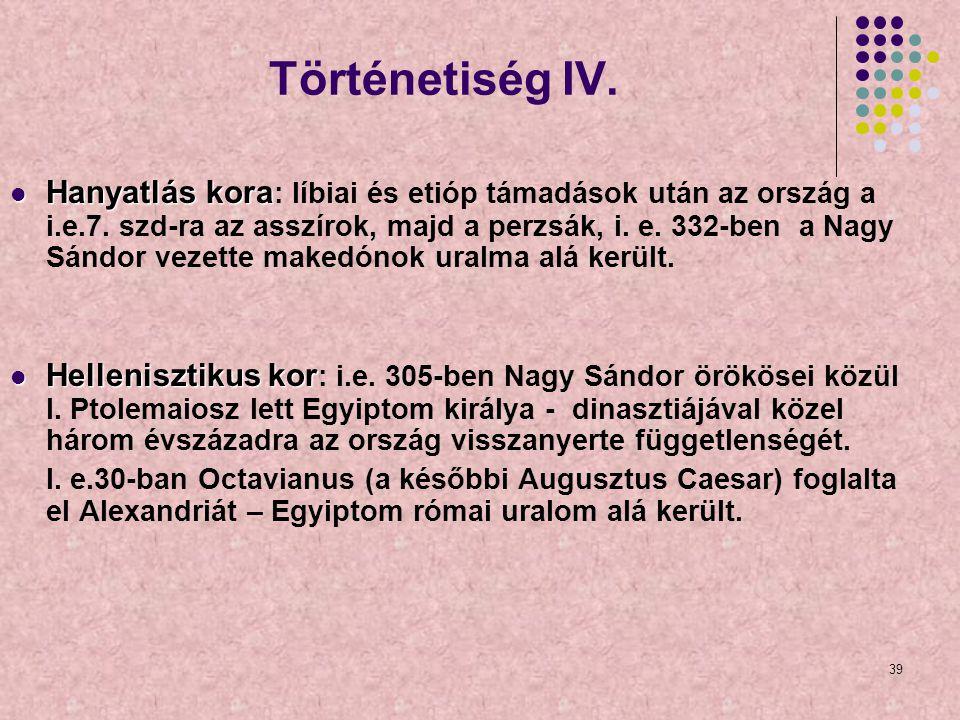 Történetiség IV.