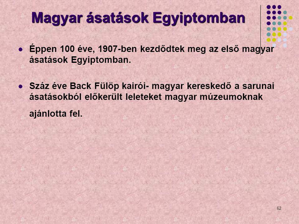 Magyar ásatások Egyiptomban