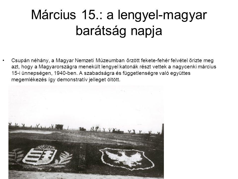 Március 15.: a lengyel-magyar barátság napja