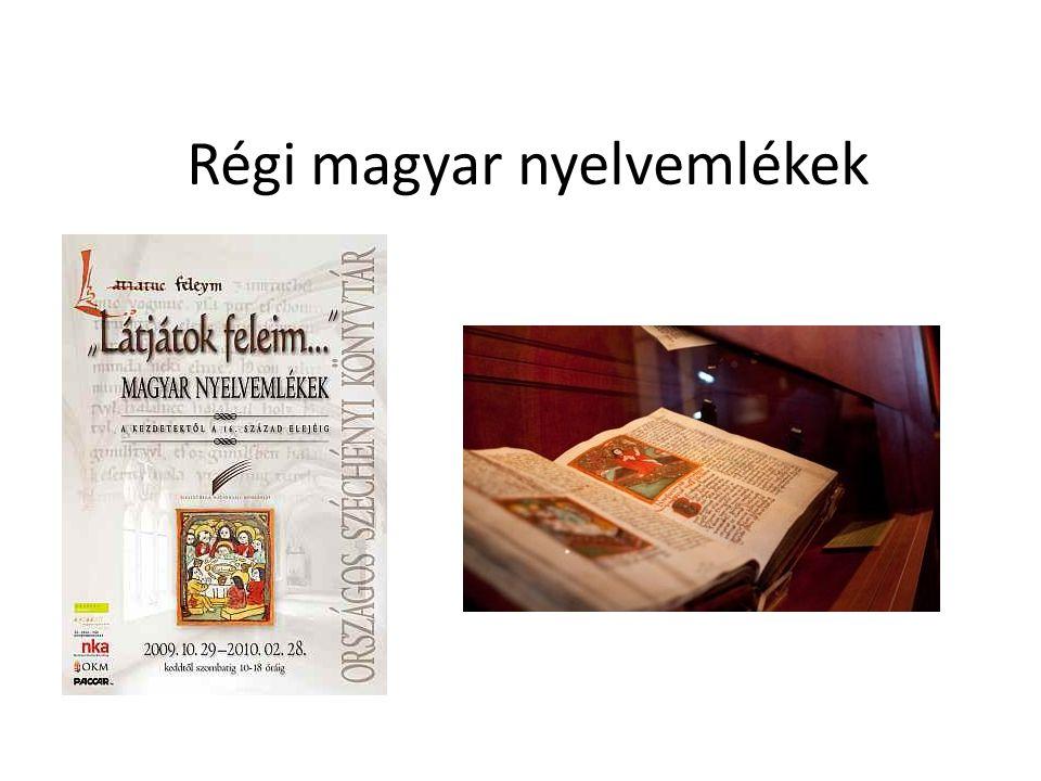 Régi magyar nyelvemlékek