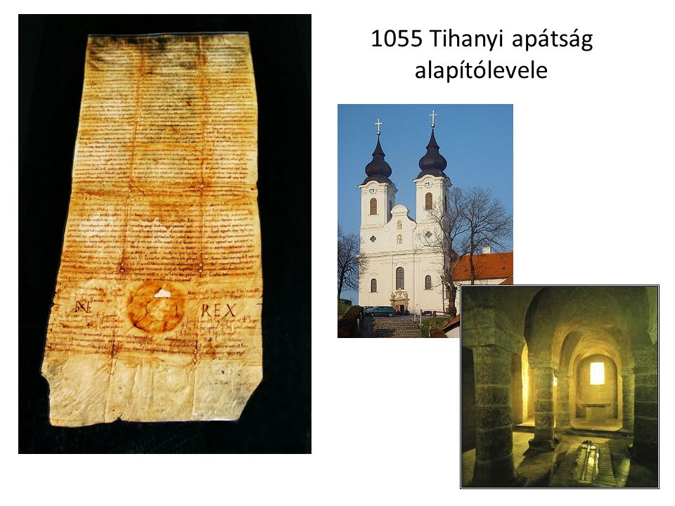 1055 Tihanyi apátság alapítólevele