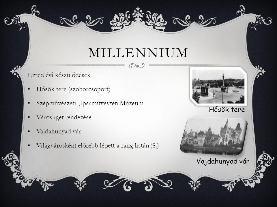 Millennium Ezred évi készülődések Hősök tere (szoborcsoport)