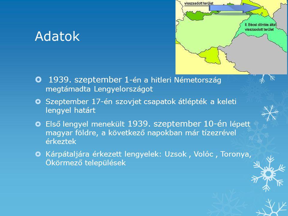 Adatok 1939. szeptember 1-én a hitleri Németország megtámadta Lengyelországot.