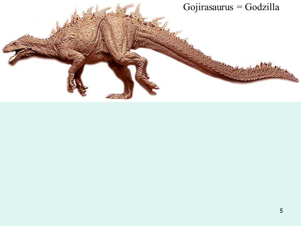 Gojirasaurus = Godzilla