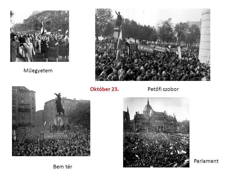 Műegyetem Október 23. Petőfi szobor Parlament Bem tér