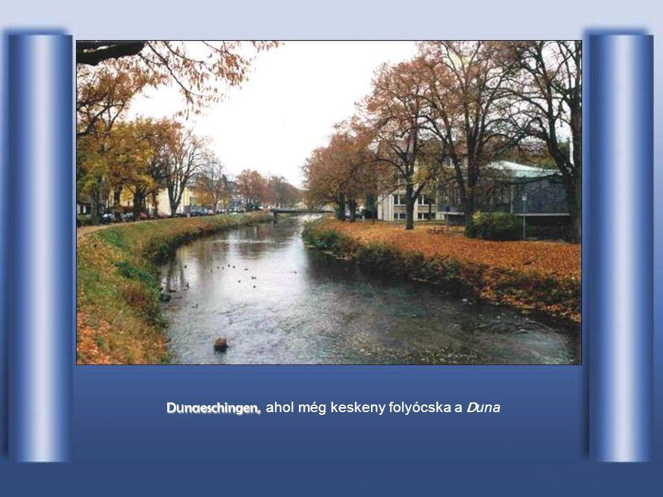 Dunaeschingen, ahol még keskeny folyócska a Duna