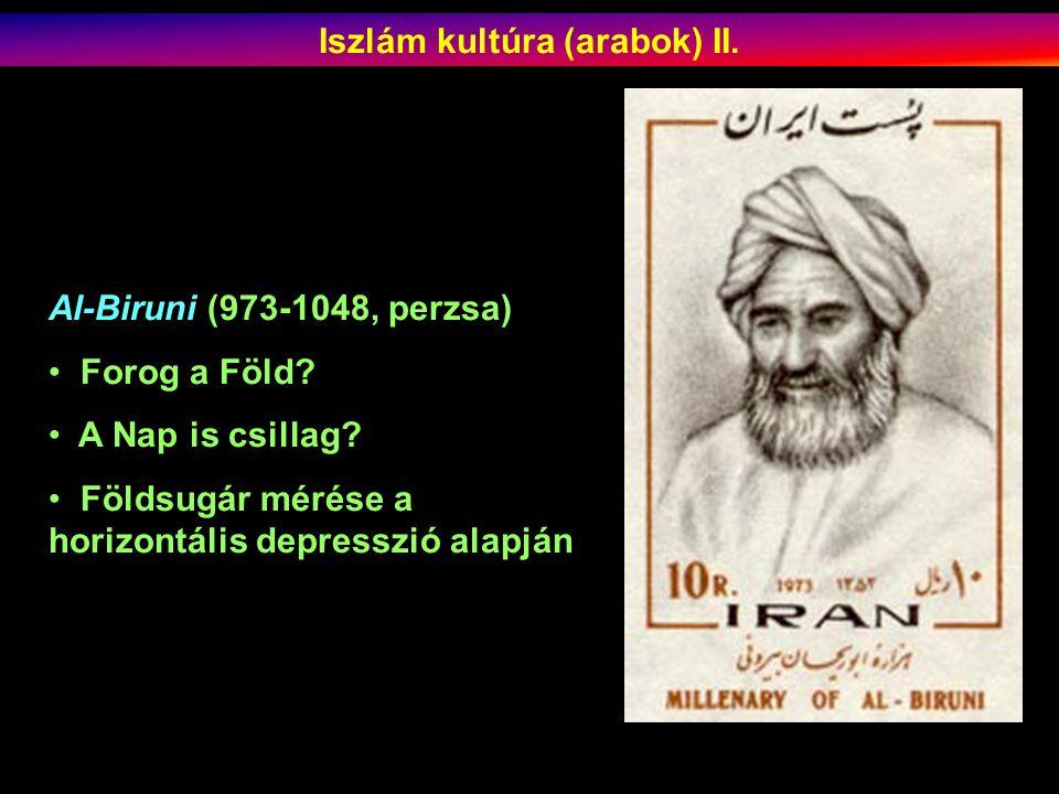 Iszlám kultúra (arabok) II.