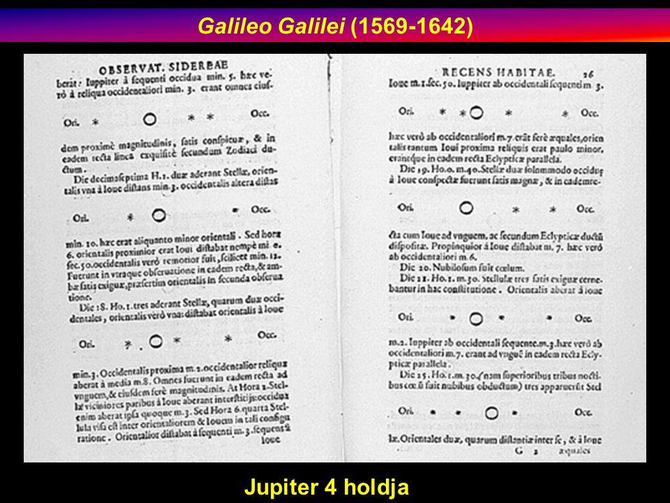 Galileo Galilei (1569-1642) Jupiter 4 holdja
