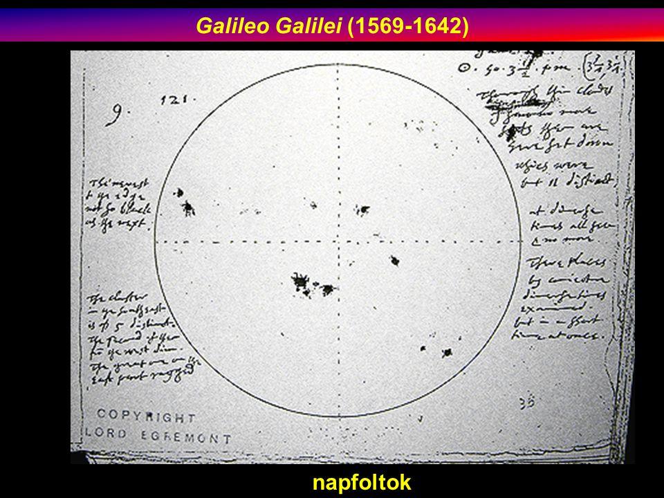 Galileo Galilei (1569-1642) napfoltok