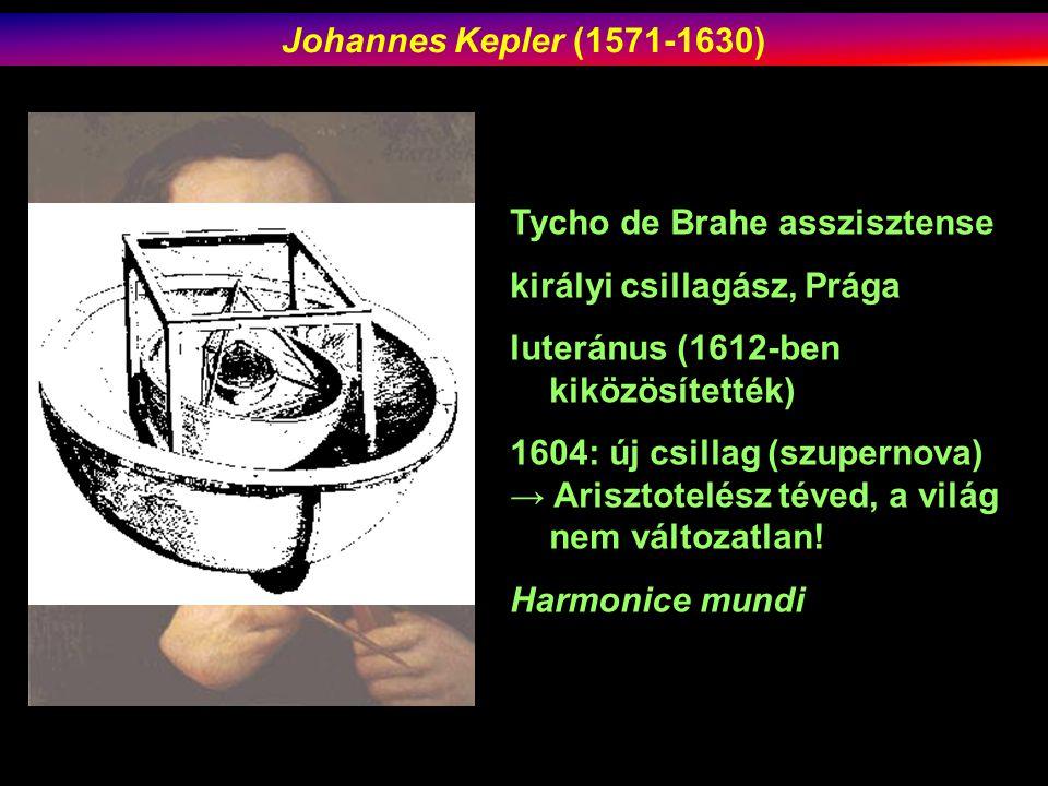 Johannes Kepler (1571-1630) Tycho de Brahe asszisztense. királyi csillagász, Prága. luteránus (1612-ben kiközösítették)