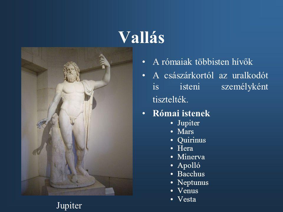 Vallás A rómaiak többisten hívők