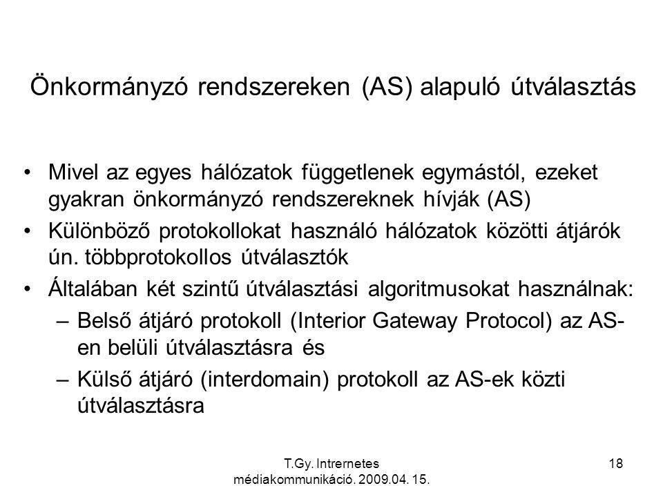 Önkormányzó rendszereken (AS) alapuló útválasztás