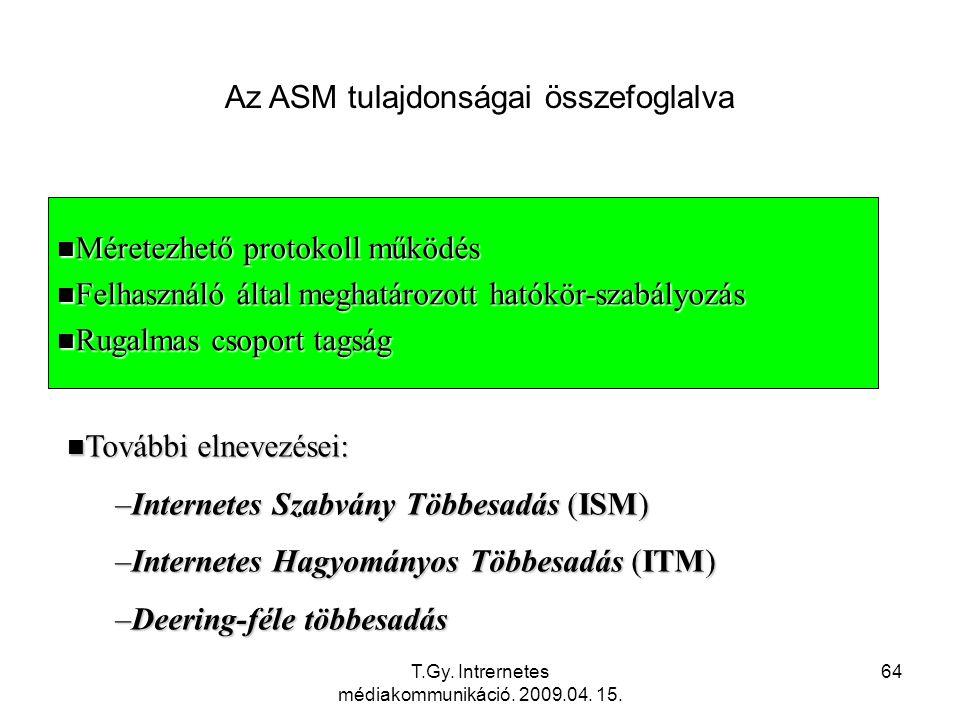 Az ASM tulajdonságai összefoglalva