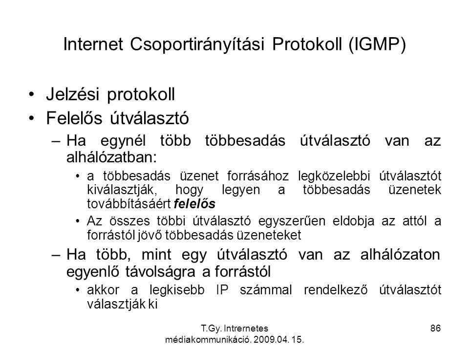 Internet Csoportirányítási Protokoll (IGMP)