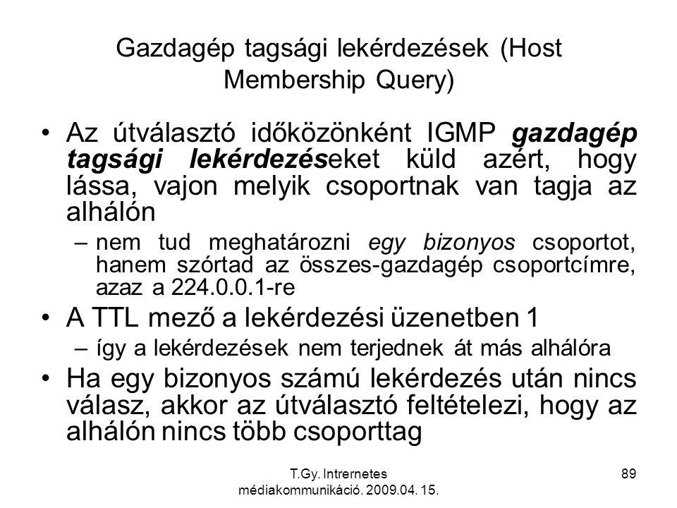 Gazdagép tagsági lekérdezések (Host Membership Query)