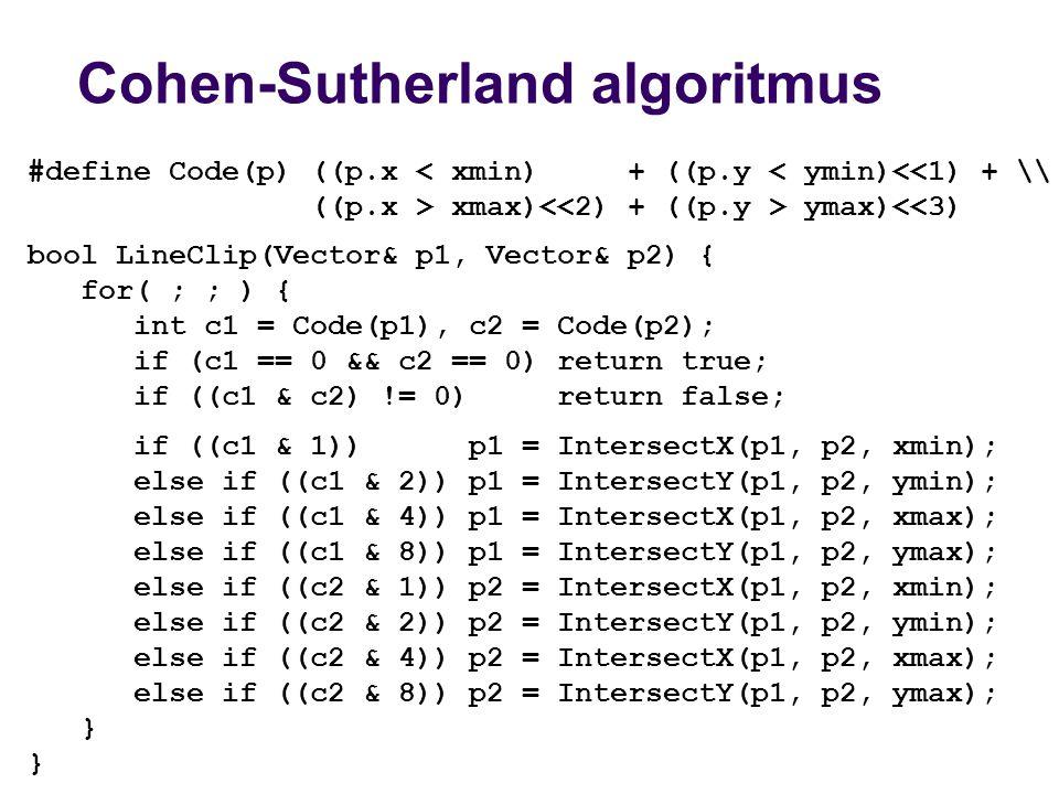 Cohen-Sutherland algoritmus