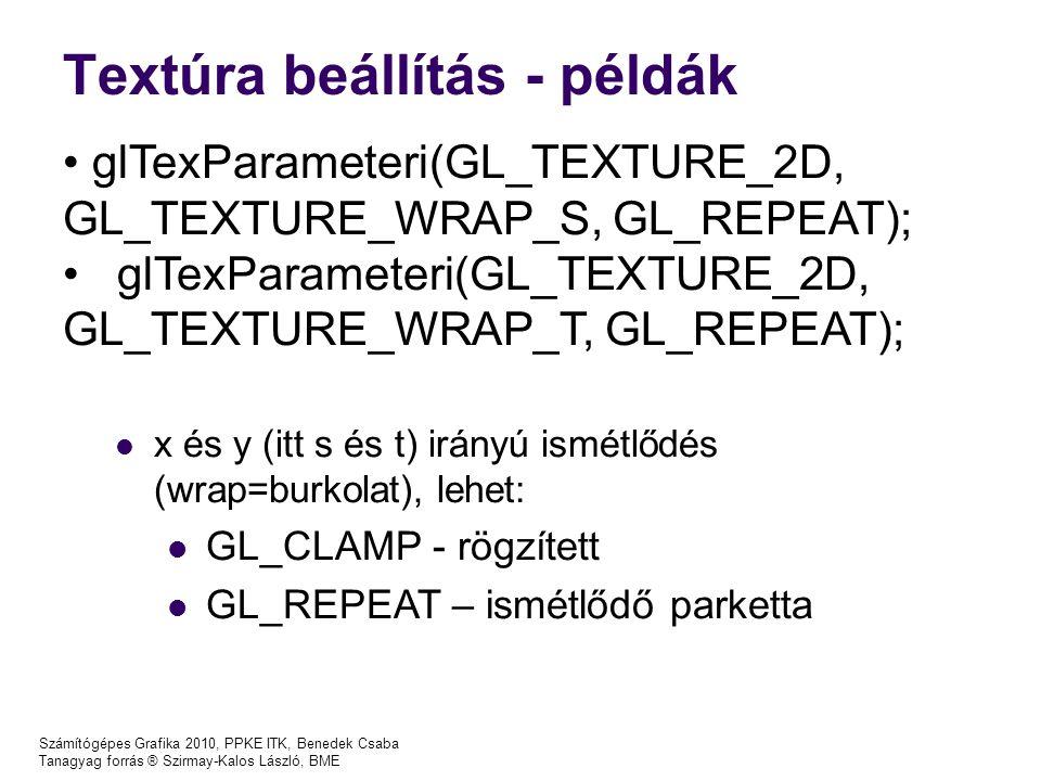 Textúra beállítás - példák