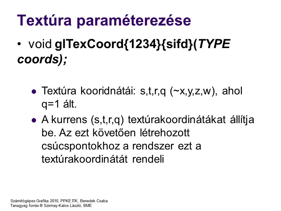 Textúra paraméterezése