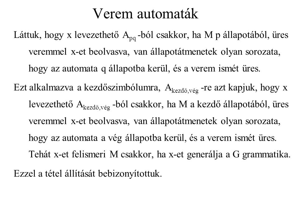 Verem automaták